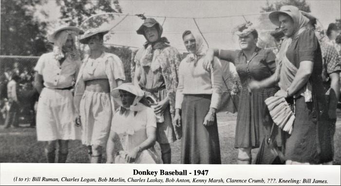 Easton HSE 1947 Fireman carnival Donkey baseball