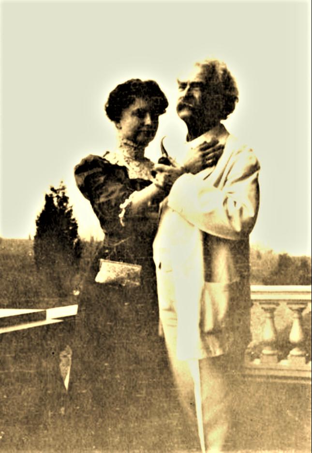 Easton HSE helen Keller mark Twain Jan 1909