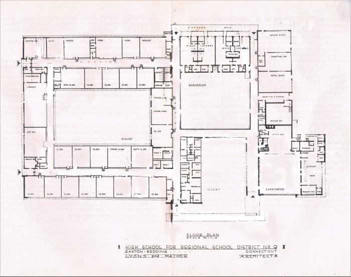 Easton HSE S43 Redding Barlow floor plan 1960